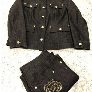 St. John Jackets & Coats - saint john denim outfit